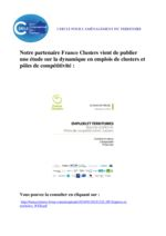 thumbnail of Etude Emploi 2018 France clusters