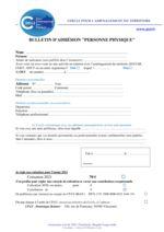 thumbnail of 2021 Bulletin d'adhésion Personne Physique