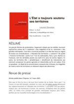 thumbnail of L'Etat a toujours soutenu ses territoires, par Laurent Davezies